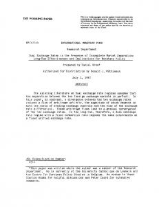 WP/87/45 INTERNATIONAL MONETARY FUND ... - SSRN papers