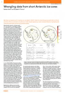 Wrangling data from short antarctic ice cores - PAGES - Past Global