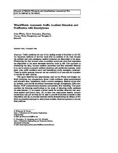 WreckWatch: Automatic Traffic Accident Detection ... - Semantic Scholar