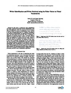 Writer Identification and Writer Retrieval Using the Fisher Vector on ...