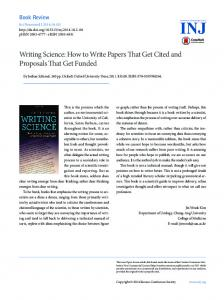 Writing Science: How to Write Papers That Get Cited ... - ScienceCentral