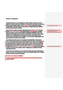Writing test 1, Cambridge ielts 9: Although the importance of a ...