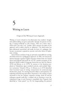 Writing to Learn Approach