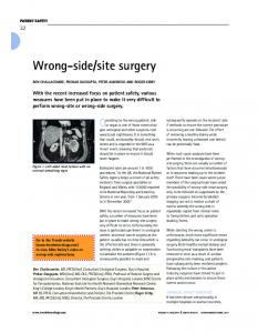 Wrongside/site surgery - Wiley Online Library