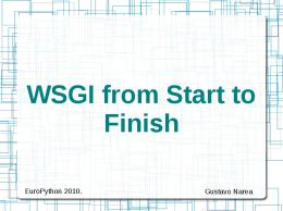 WSGI from Start to Finish