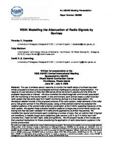 WSN: Modelling the Attenuation of Radio Signals by