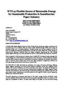 WTE as Flexible Source of Renewable Energy for ...