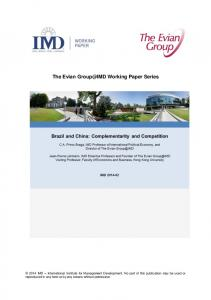 WTO and the business community - IMD Business School