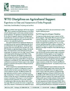 WTO Disciplines on Agricultural Support - World Trade Organization