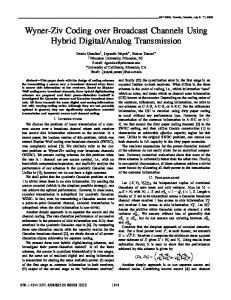 Wyner-Ziv Coding over Broadcast Channels Using ... - IEEE Xplore