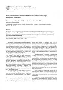 X monosomy and balanced Robertsonian translocation in a ... - SciELO