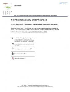 X-ray Crystallography of TRP Channels
