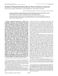 Xanthine Phosphoribosyltransferase from Leishmania donovani