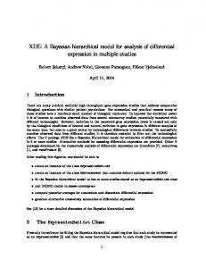 XDE: A Bayesian hierarchical model for analysis of ...
