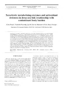 Xenobiotic metabolising enzymes and antioxidant ... - Inter Research
