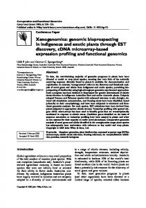 Xenogenomics: genomic bioprospecting in ... - Wiley Online Library