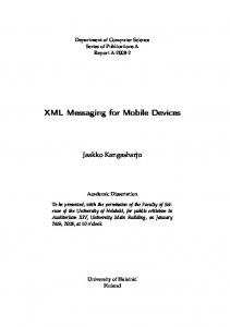 XML Messaging for Mobile Devices