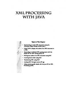 XML Processing with Java - Core Web Programming 2nd Edition