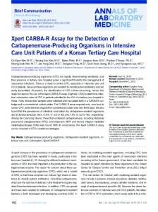Xpert CARBA-R Assay for the Detection of ... - Semantic Scholar