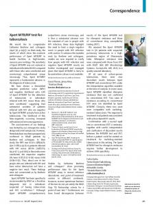 Xpert MTB/RIF test for tuberculosis - The Lancet