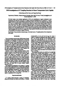 XPS Investigation of A3 Coupling Reaction in Room Temperature