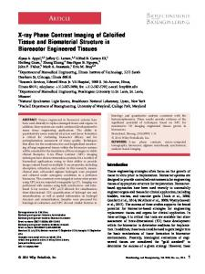 Xray phase contrast imaging of calcified tissue and ...