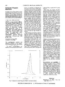 XRAYL: a new powder diffraction profile fitting program - IUCr Journals