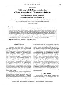 XRD and FTIR Characterisation of Lead Oxide-Based Pigments and ...