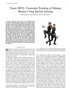 Xsens MVN: Consistent Tracking of Human Motion