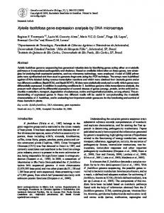 Xylella fastidiosa gene expression analysis by