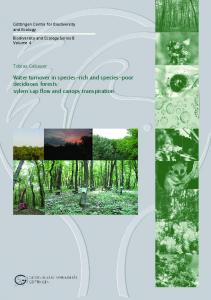 xylem sap flow and canopy transpiration