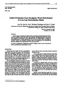 Xylitol Production from Eucalyptus Wood ... - Semantic Scholar
