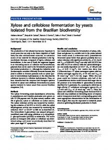 Xylose and cellobiose fermentation by yeasts isolated ... - Springer Link