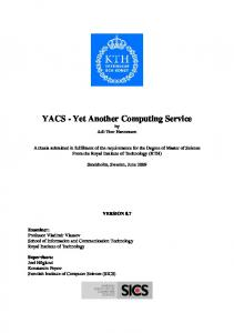 YACS - Yet Another Computing Service