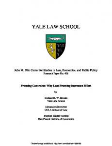 yale law school - SSRN papers
