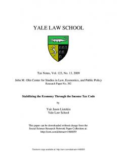 yale law school - (SSRN) Papers