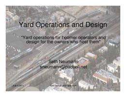 Yard Operations and Design
