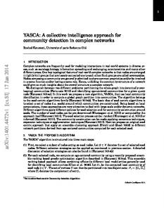 YASCA: A collective intelligence approach for community detection in ...
