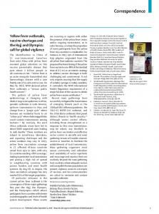 Yellow fever outbreaks, vaccine shortages and the Hajj ... - The Lancet
