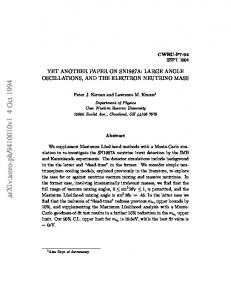 YET ANOTHER PAPER ON SN1987A: LARGE ANGLE ...