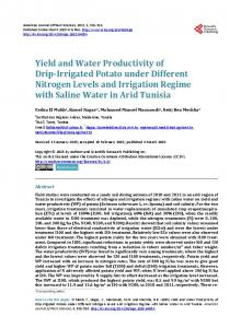 Yield and Water Productivity of Drip-Irrigated Potato under Different ...
