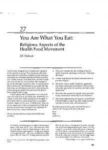 You Are What You Eat - Cynthia Clarke