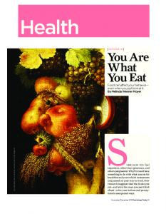 You Are What You Eat - Melinda Wenner Moyer