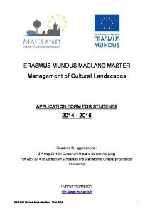You can download the application form here. - Erasmus Mundus ...