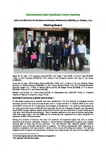 You can download the meeting report here - the ACEAS