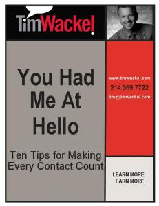You Had Me at Hello Workbook - Tim Wackel