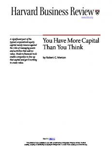 You Have More Capital Than You Think - Q Group