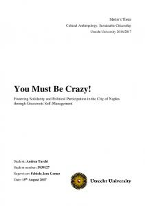 You Must Be Crazy!