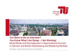 You Want to Do an Interview? You Know What I Am Doing – I Am ...