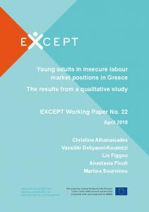 Young adults in insecure labour market positions in ...
